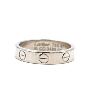 White Gold 18k 750 Band 5.5mm Size 47 4.25 Ring